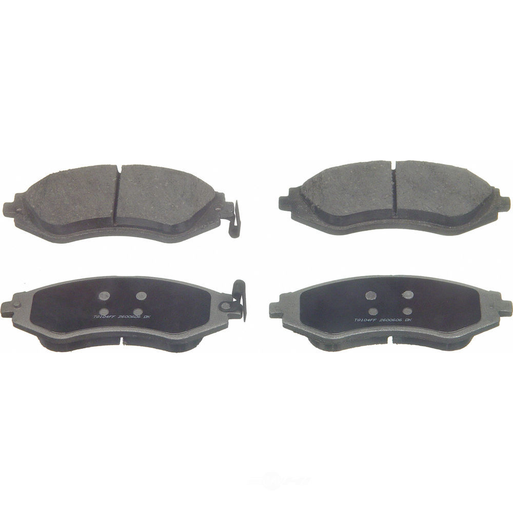 WAGNER BRAKE - ThermoQuiet Disc Brake Pad (Front) - WGC PD1035