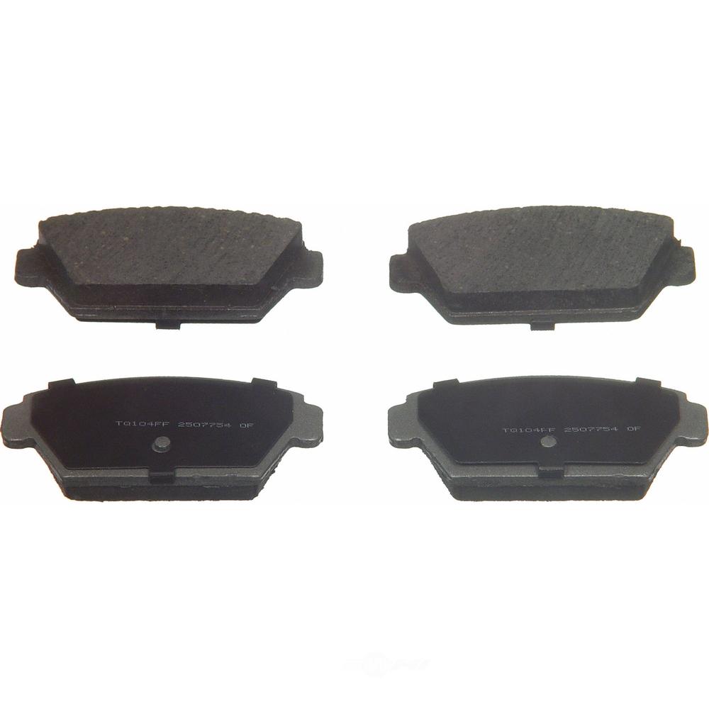 WAGNER BRAKE - ThermoQuiet Disc Brake Pad (Rear) - WGC PD329