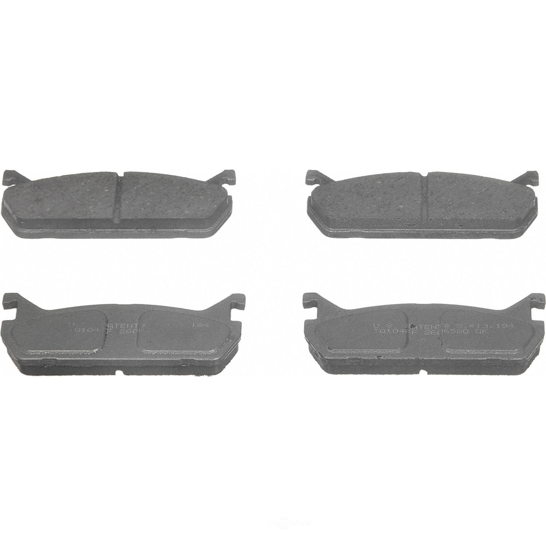 WAGNER BRAKE - ThermoQuiet Disc Brake Pad (Rear) - WGC PD458