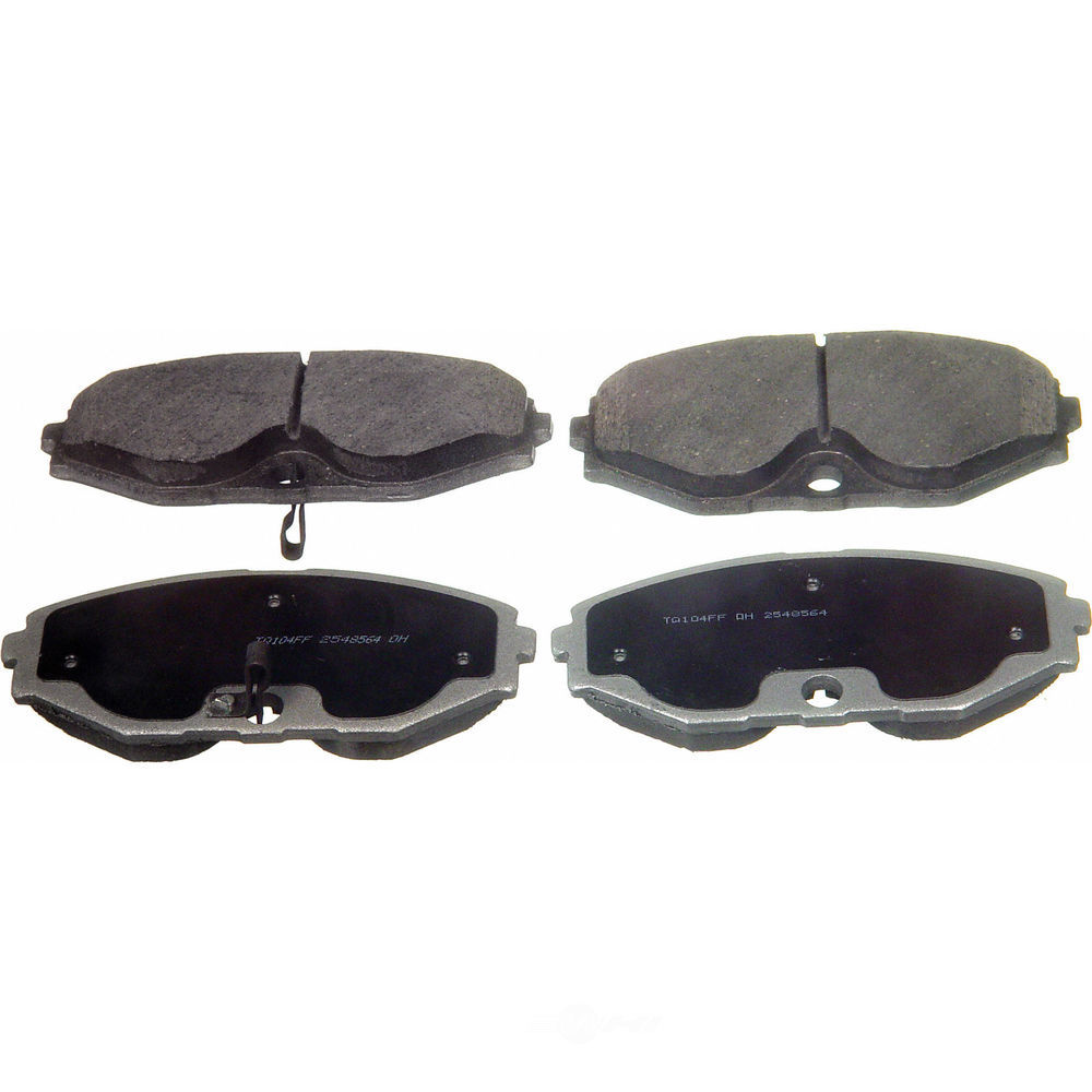 WAGNER BRAKE - ThermoQuiet Disc Brake Pad (Front) - WGC PD587