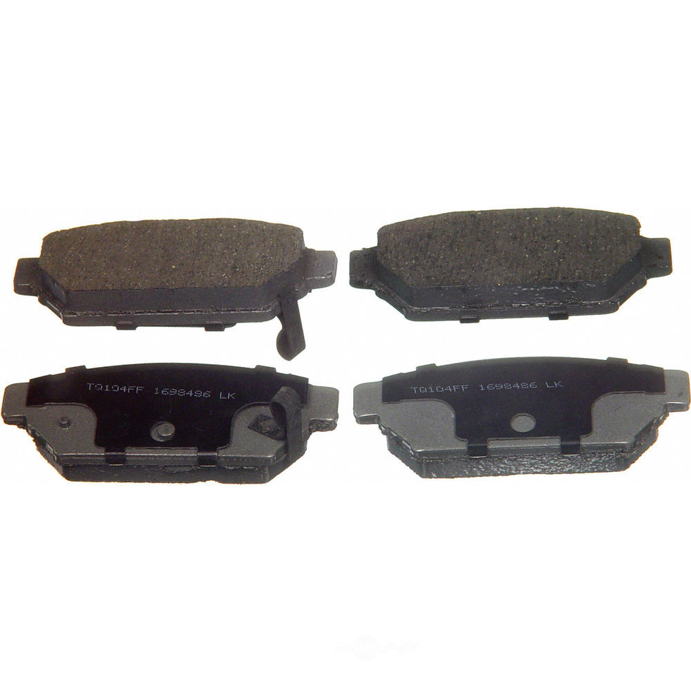 WAGNER BRAKE - ThermoQuiet Disc Brake Pad (Rear) - WGC PD596