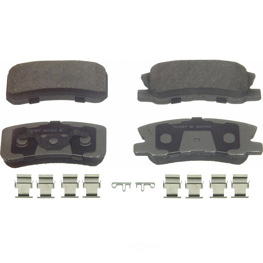 WAGNER BRAKE - ThermoQuiet Disc Brake Pad (Rear) - WGC PD868