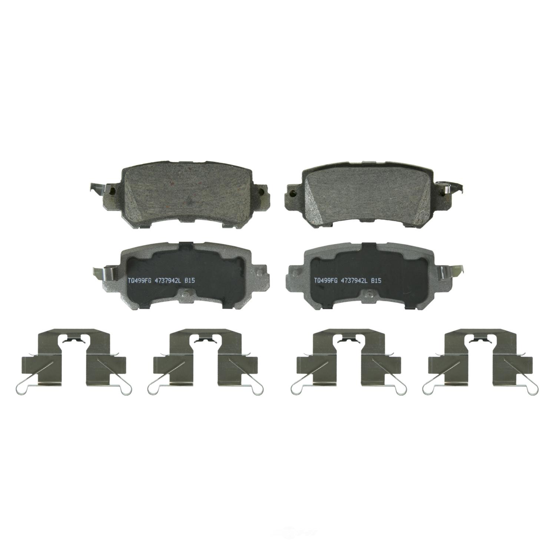WAGNER BRAKE - ThermoQuiet Disc Brake Pad (Rear) - WGC QC1624