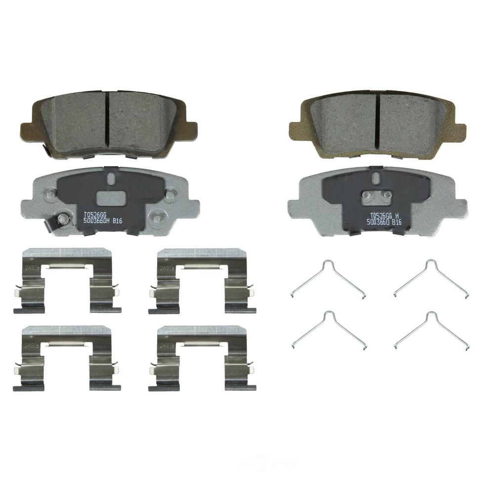 WAGNER BRAKE - ThermoQuiet Disc Brake Pad (Rear) - WGC QC1839
