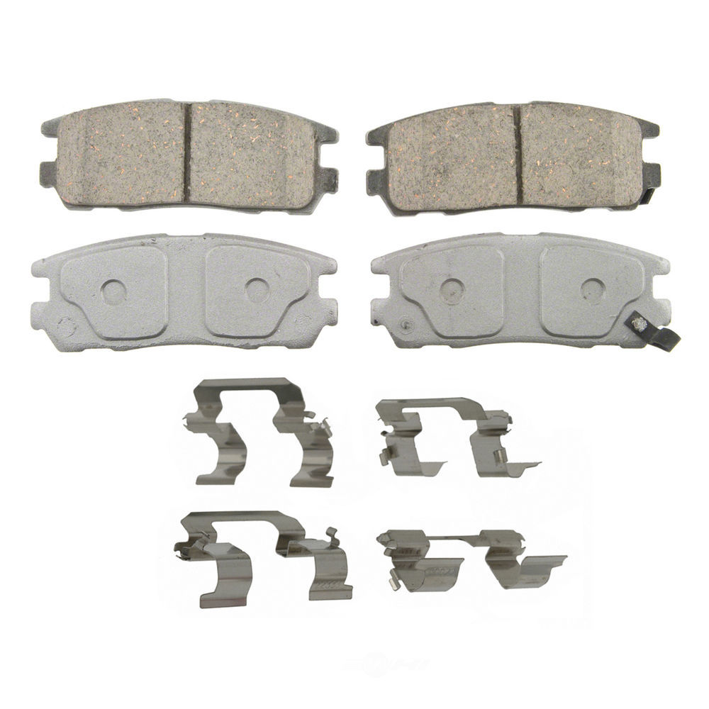 WAGNER BRAKE - ThermoQuiet Disc Brake Pad (Rear) - WGC QC580