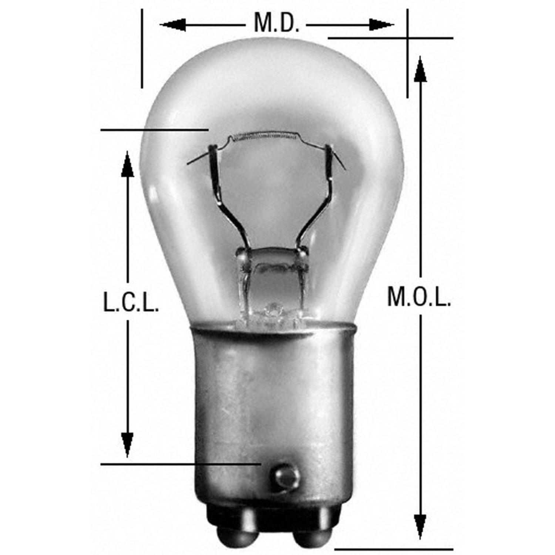 WAGNER LIGHTING - Brake Light Bulb - WLP 1176