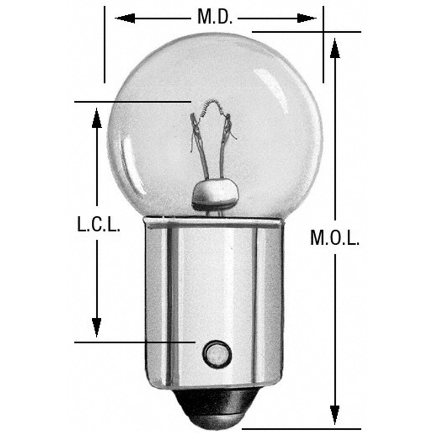 WAGNER LIGHTING - Ash Tray Light Bulb - WLP 57