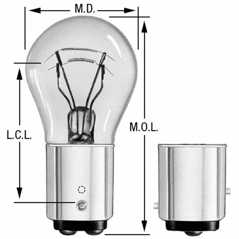 WAGNER LIGHTING - Turn Signal Light Bulb - WLP BP1157LL
