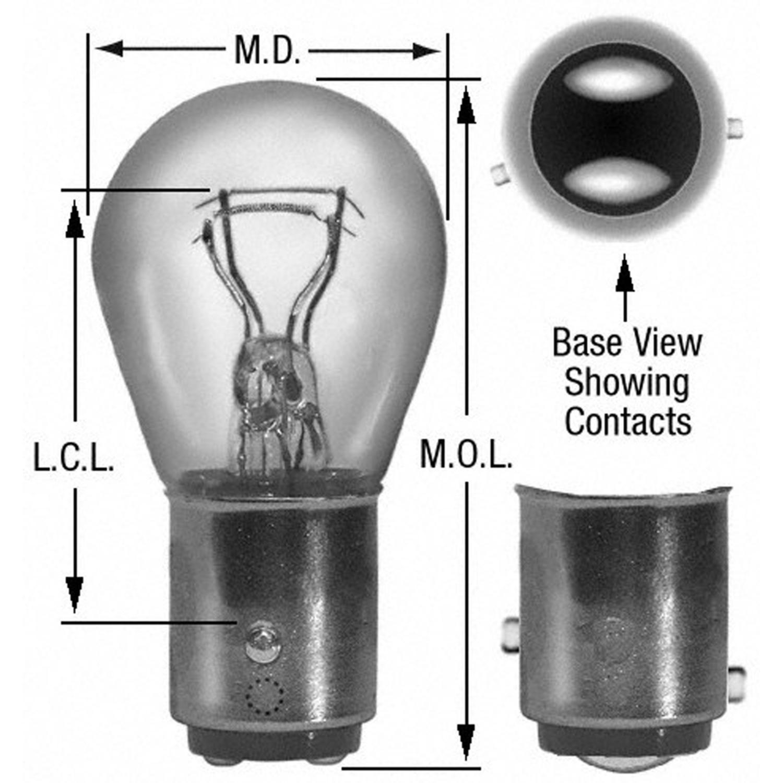 WAGNER LIGHTING - Tail Light Bulb - WLP BP17881