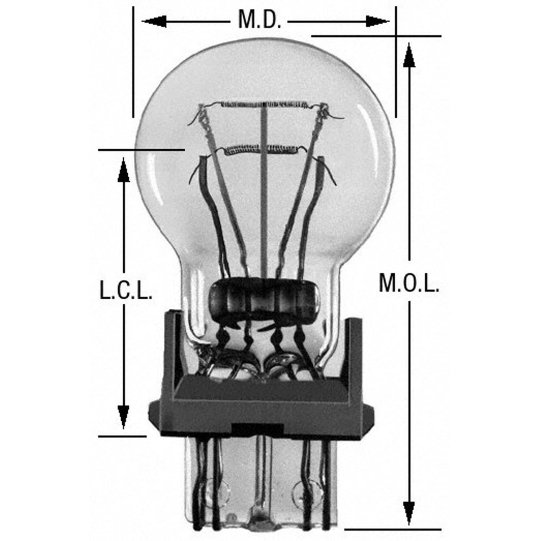 WAGNER LIGHTING - Turn Signal Light Bulb - WLP BP3357LL