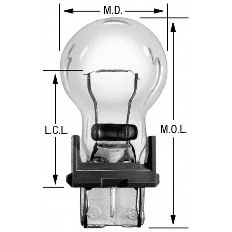 WAGNER LIGHTING - Turn Signal Light Bulb - WLP BP3456LL