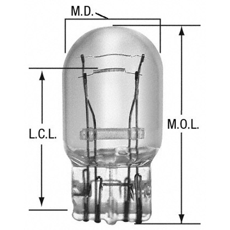 WAGNER LIGHTING - Tail Light Bulb - WLP BP7443