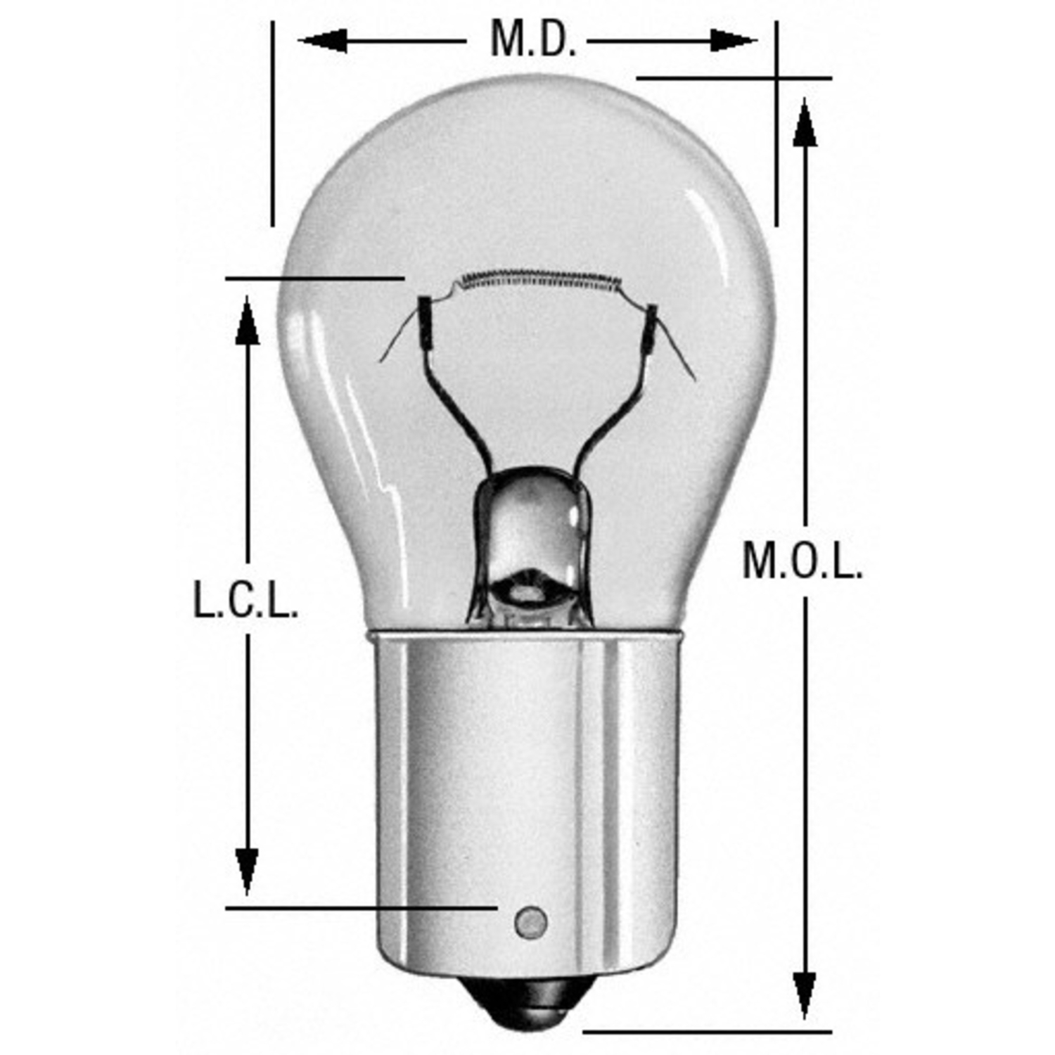WAGNER LIGHTING - Engine Compartment Light Bulb (Rear) - WLP BP93