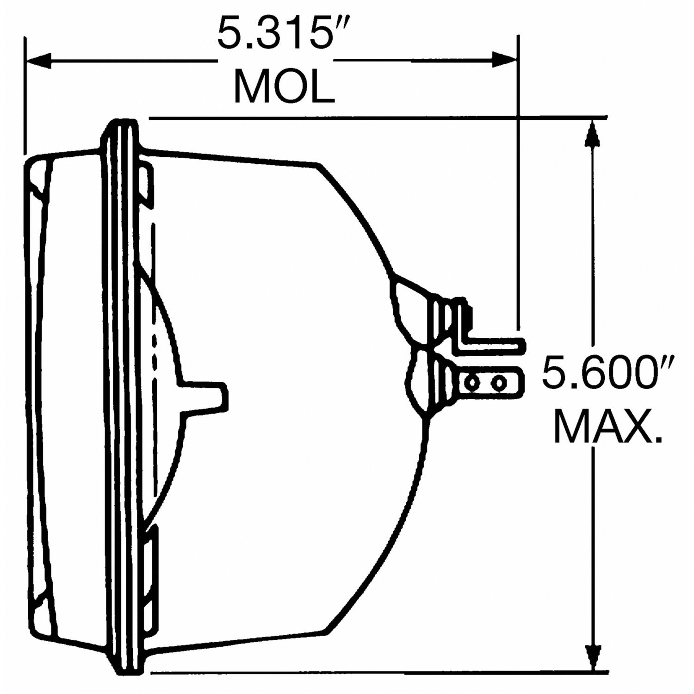 WAGNER LIGHTING - BriteLite Headlight Bulb - WLP H6054BL