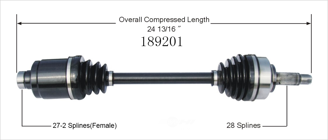 WORLDPARTS CV AXLES - CV Axle Shaft (Front Right) - WPA 189201