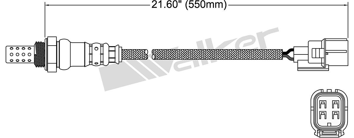 WALKER PRODUCTS, INC. - Oxygen Sensor - WPI 250-24785