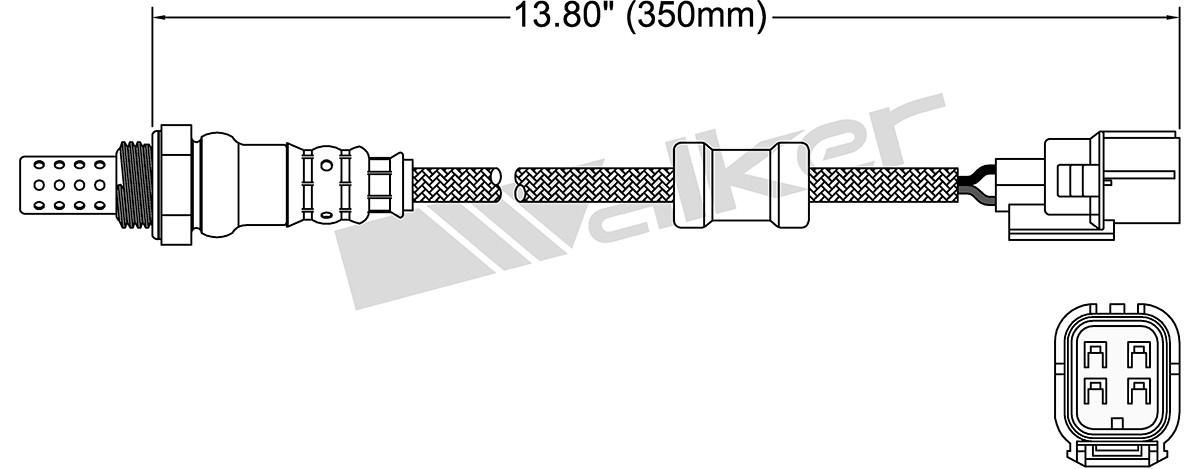 WALKER PRODUCTS, INC. - Oxygen Sensor - WPI 250-24786