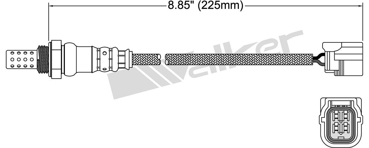 WALKER PRODUCTS, INC. - Oxygen Sensor - WPI 250-24833