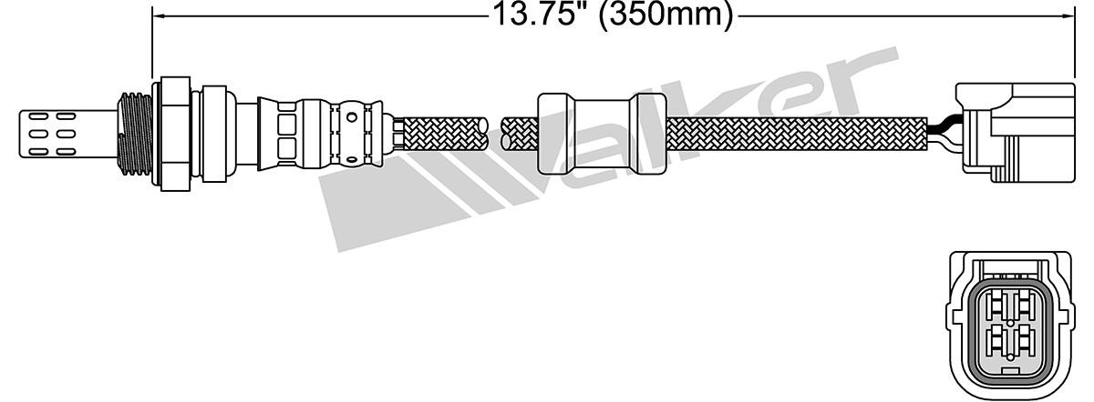 WALKER PRODUCTS, INC. - Oxygen Sensor - WPI 250-24917