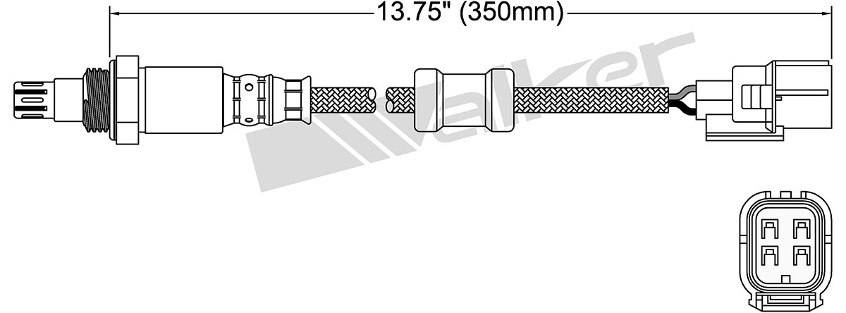 WALKER PRODUCTS, INC. - Oxygen Sensor - WPI 250-54038