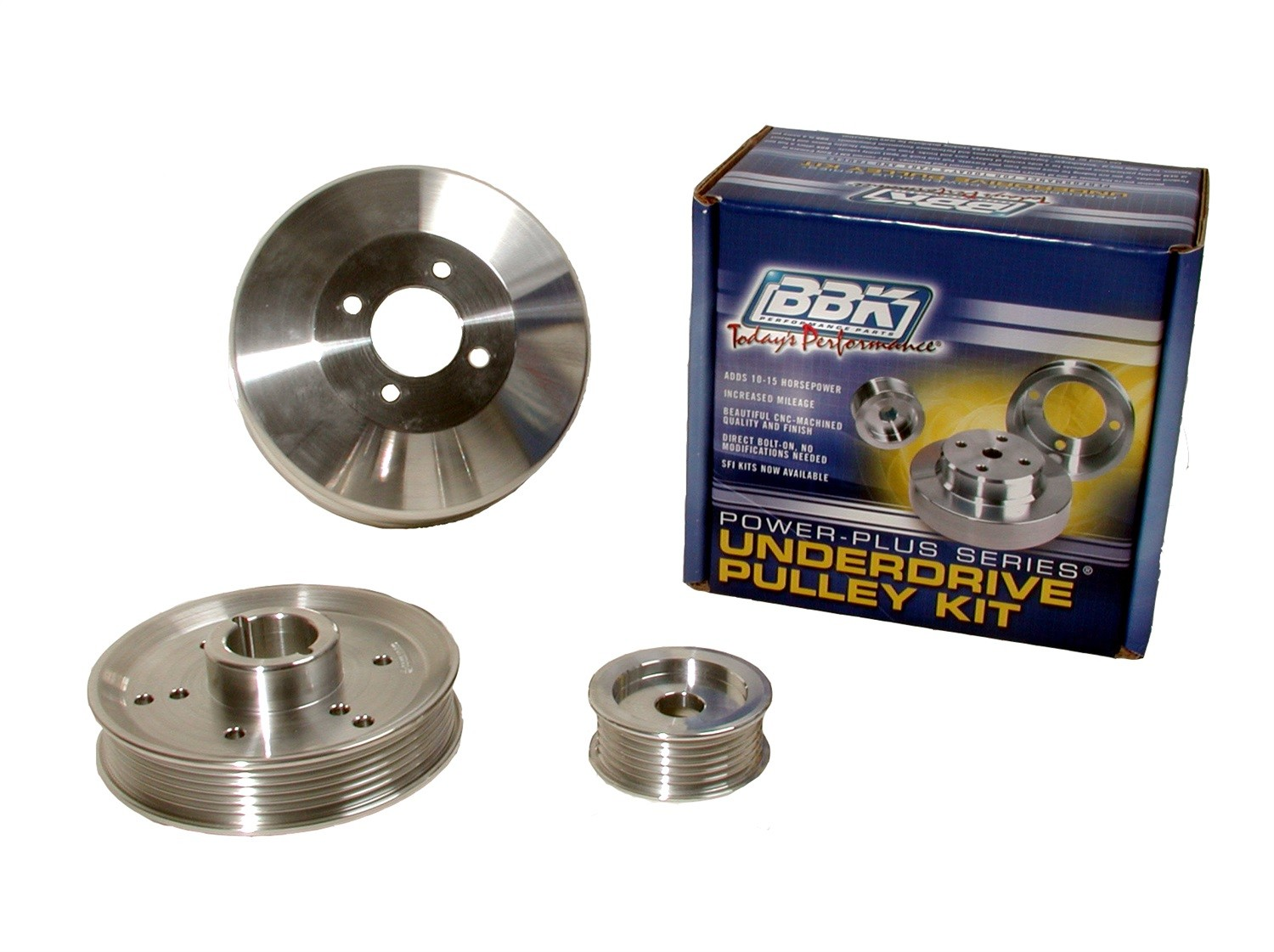BBK PERFORMANCE PARTS - Power-Plus Series Underdrive Pulley System - XCV 1555