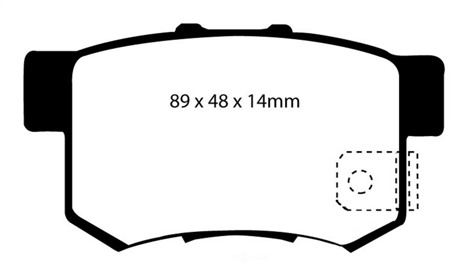 EBC BRAKES - EBC Greenstuff 2000 Series Sport Disc Brake Pad (Rear) - XHG DP21193