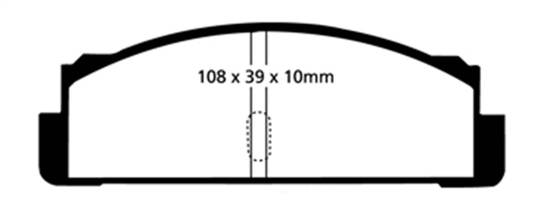 EBC BRAKES - EBC Greenstuff 2000 Series Sport Disc Brake Pad (Rear) - XHG DP2130