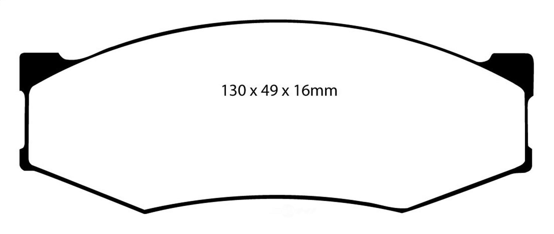 EBC BRAKES - EBC Redstuff Ceramic Low Dust Disc Brake Pad (Front) - XHG DP3538C