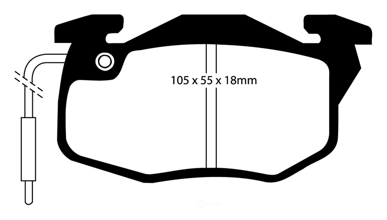 EBC BRAKES - EBC Greenstuff 2000 Series Sport Brake Pads - XHG DP2545
