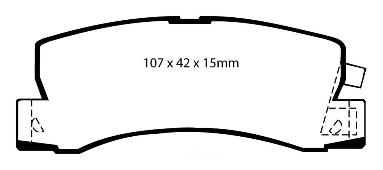 EBC BRAKES - EBC Ultimax OEM Replacement Disc Brake Pad (Rear) - XHG UD325