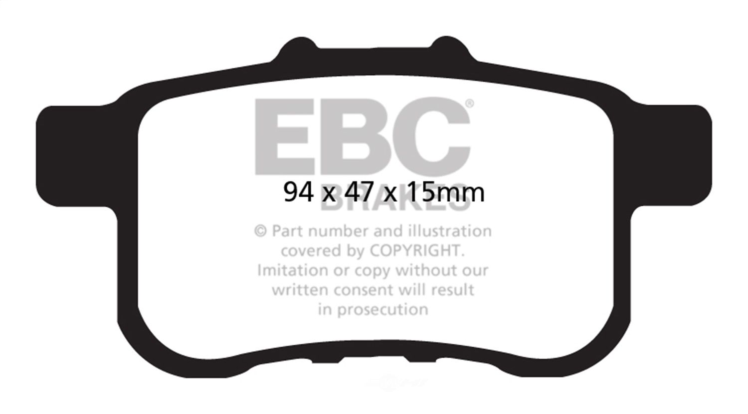EBC BRAKES - EBC Redstuff Ceramic Low Dust Disc Brake Pad (Rear) - XHG DP31987C
