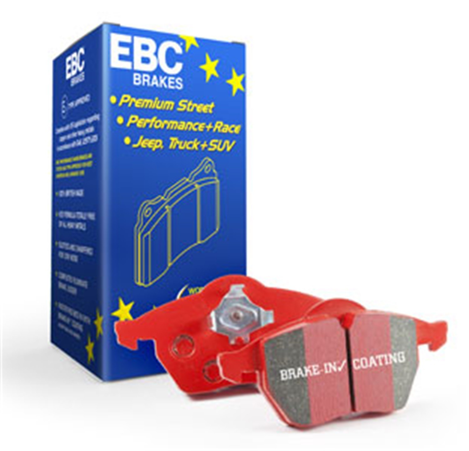 EBC BRAKES - EBC Redstuff Ceramic Low Dust Disc Brake Pad (Rear) - XHG DP3686/2C