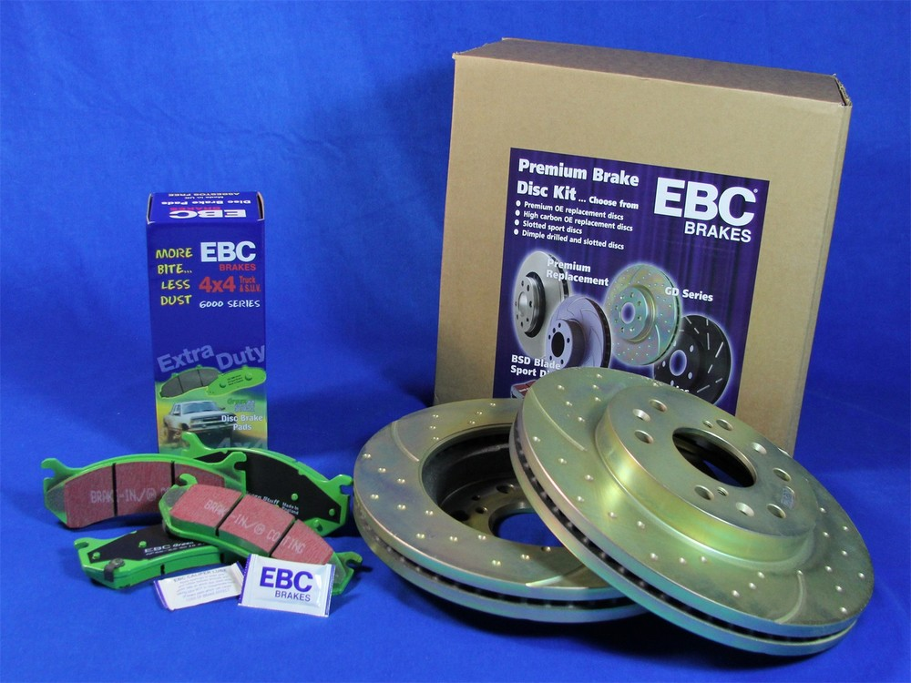 EBC BRAKES - S3 Kits Greenstuff 6000 and GD Rotors Truck and SUV (Rear) - XHG S3KR1008